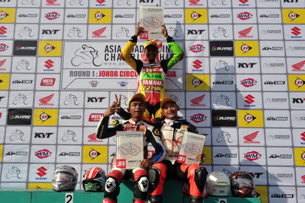 UB130 Race 2 podium