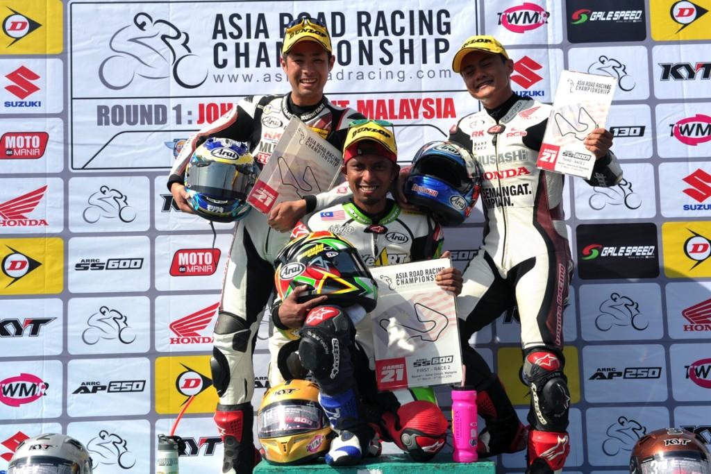 SS600 Race 2 Podium