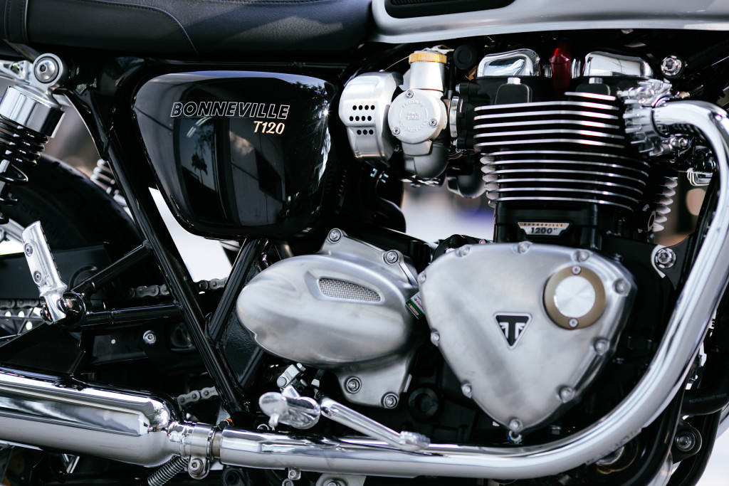 Both the T120 and T120 Black are powered by the same 1200cc liquid cooled engine.