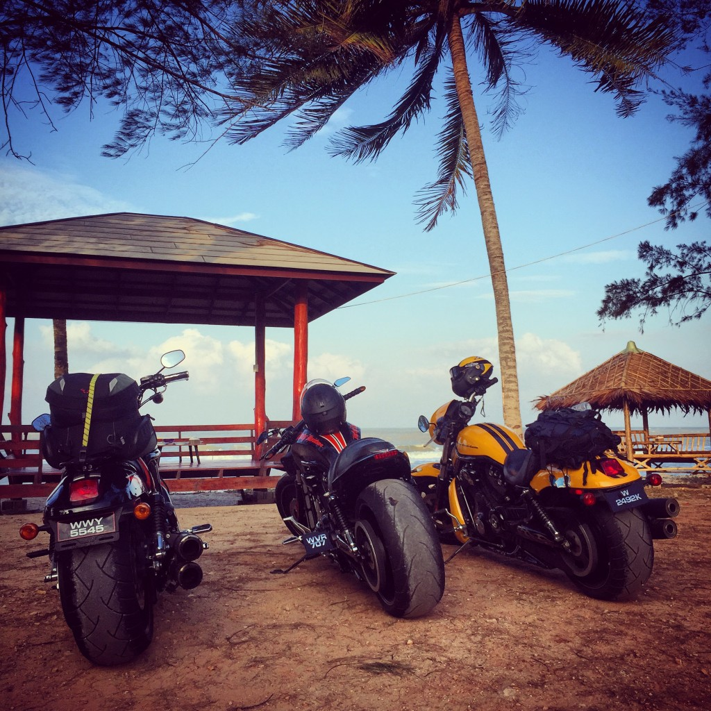 Harley V-Rods at Songkhla Beach, Thailand