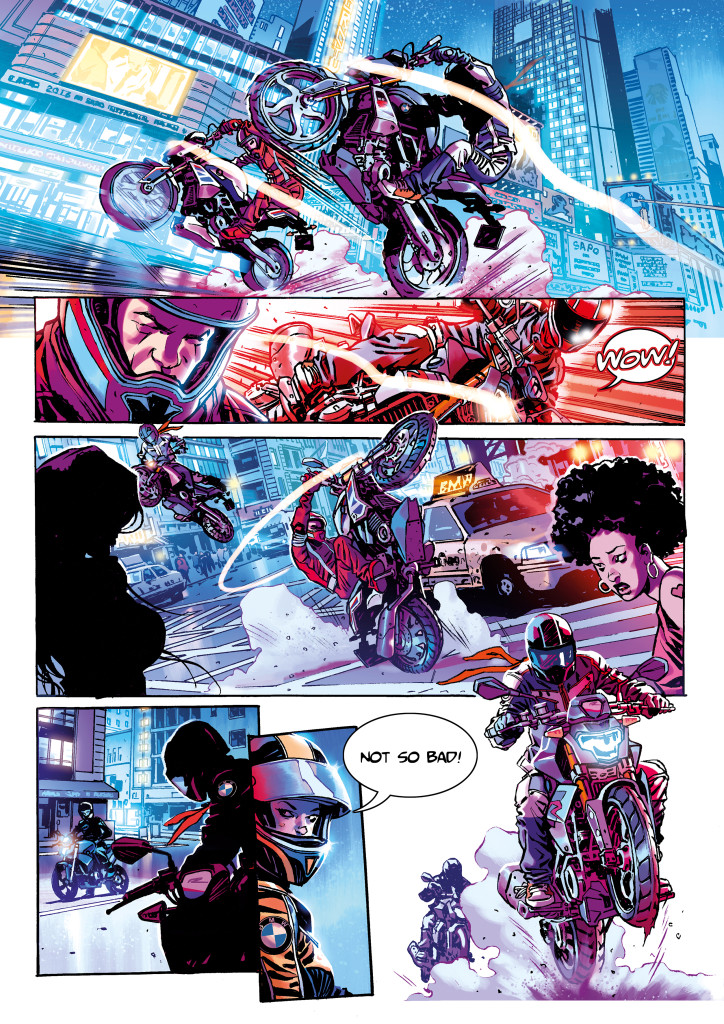 BMW Riders in the Storm comic