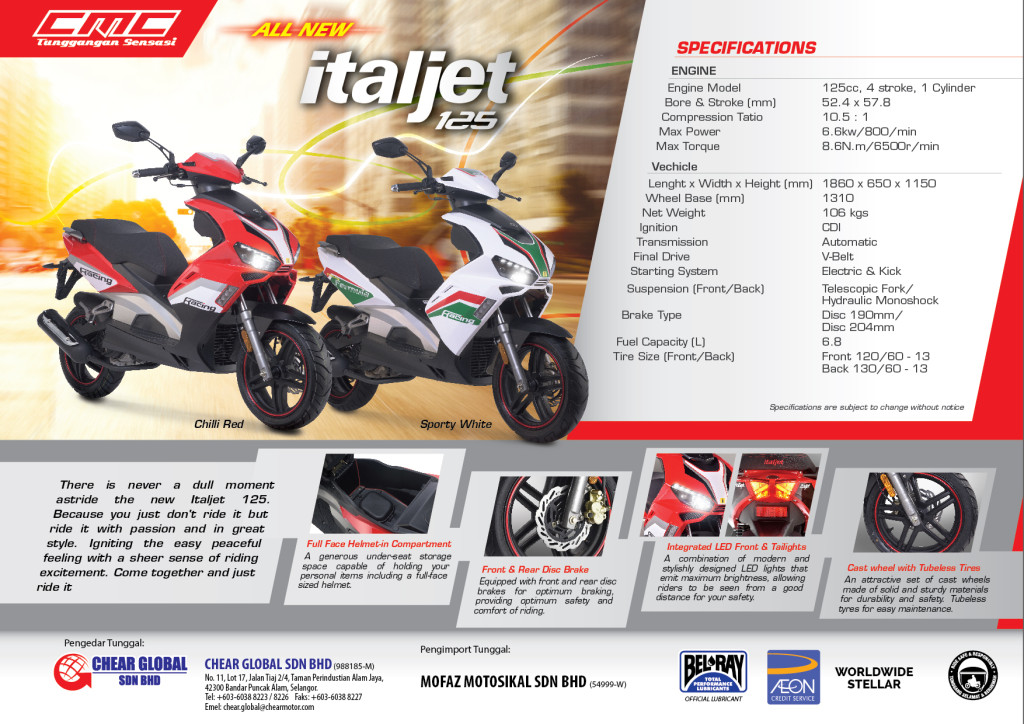 CMC Italjet 125 - Brochure (Back)