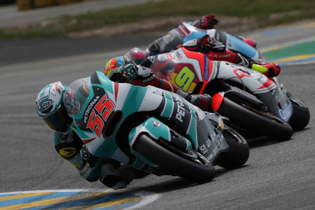 Hafizh Syahrin in action at the French GP