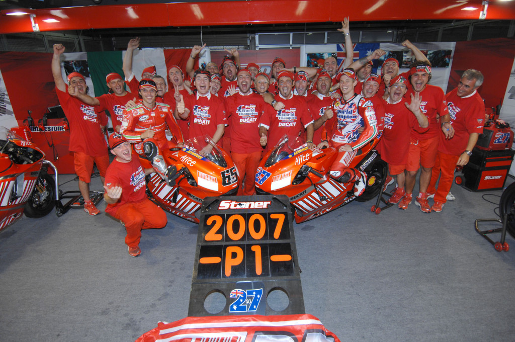 2007: A landmark year for both Stoner and Ducati.