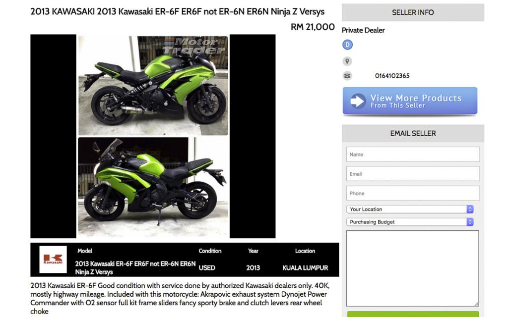 2 Kawasaki ER6f