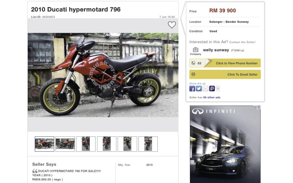 3 Ducati Hypermotard 796