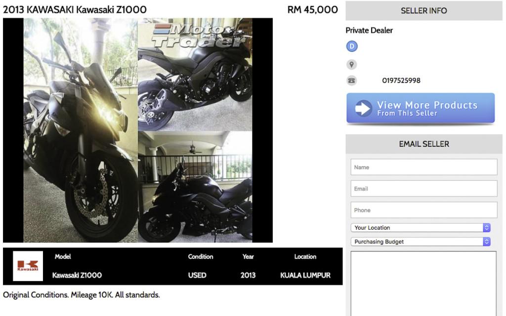 4 Kawasaki Z1000