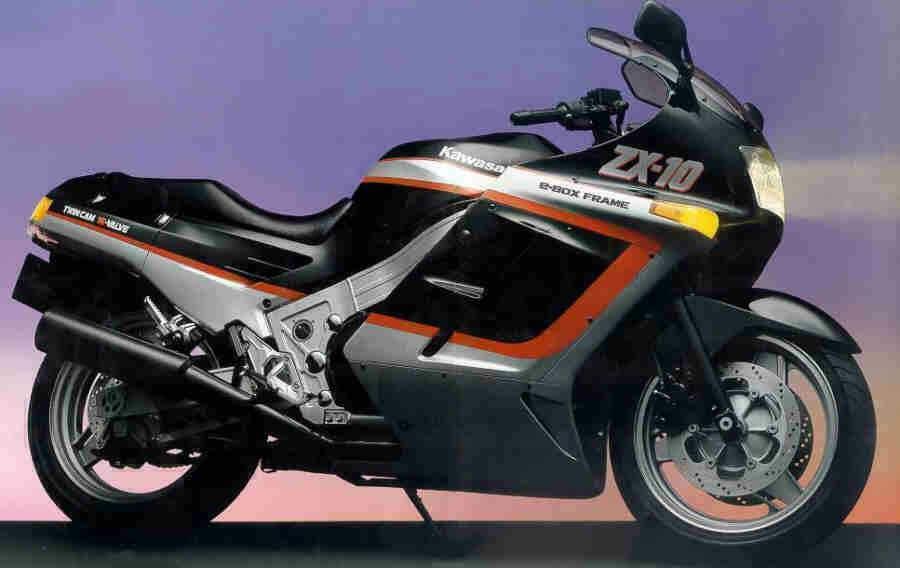 1988 Kawasaki ZX-10 (image source: Pinterest)