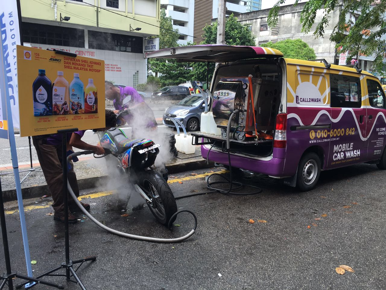 Free Bike Steamwash With Every Purchase Of Shell Advance