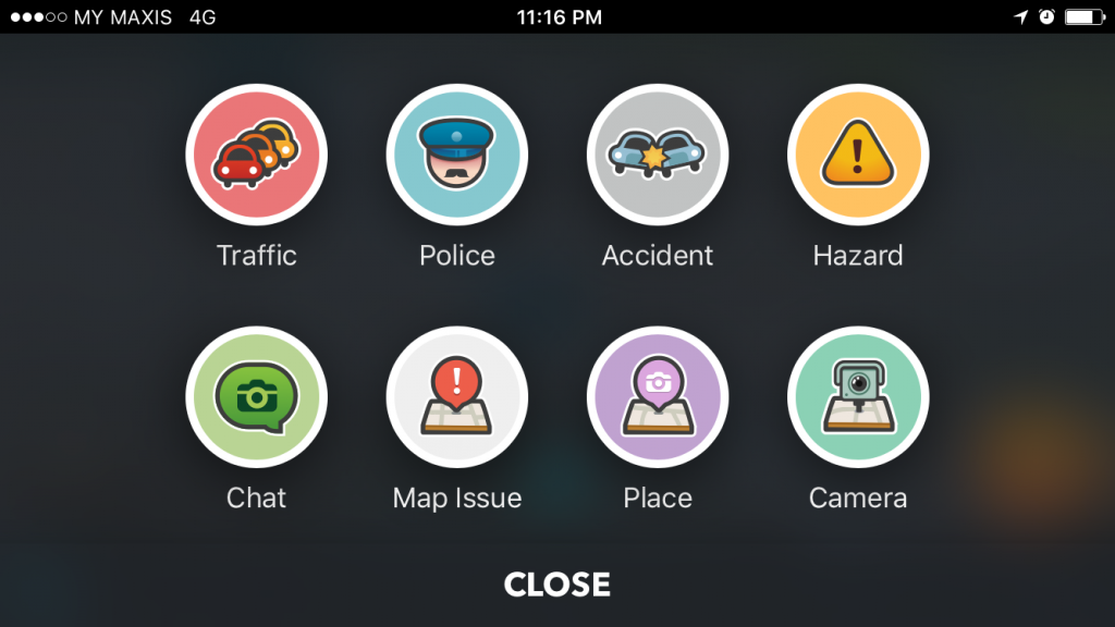 One of the core features of crowd-sourced app Waze is the ability for users to report a multitude of warnings.
