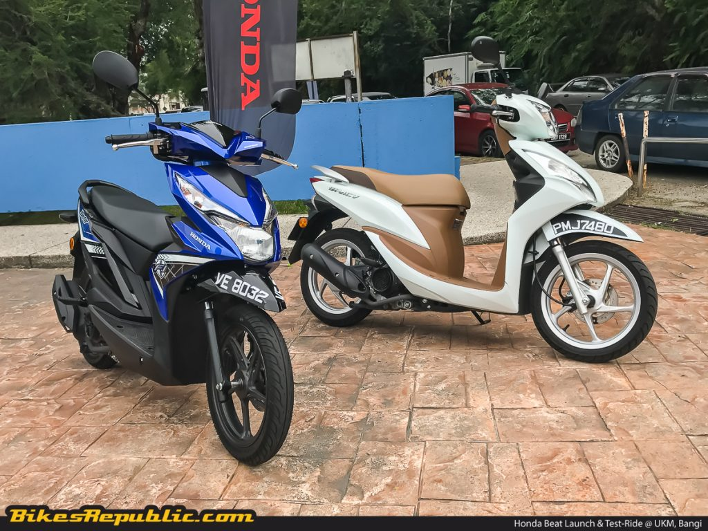The new Honda Beat (left) and the outgoing Honda Spacy (right)