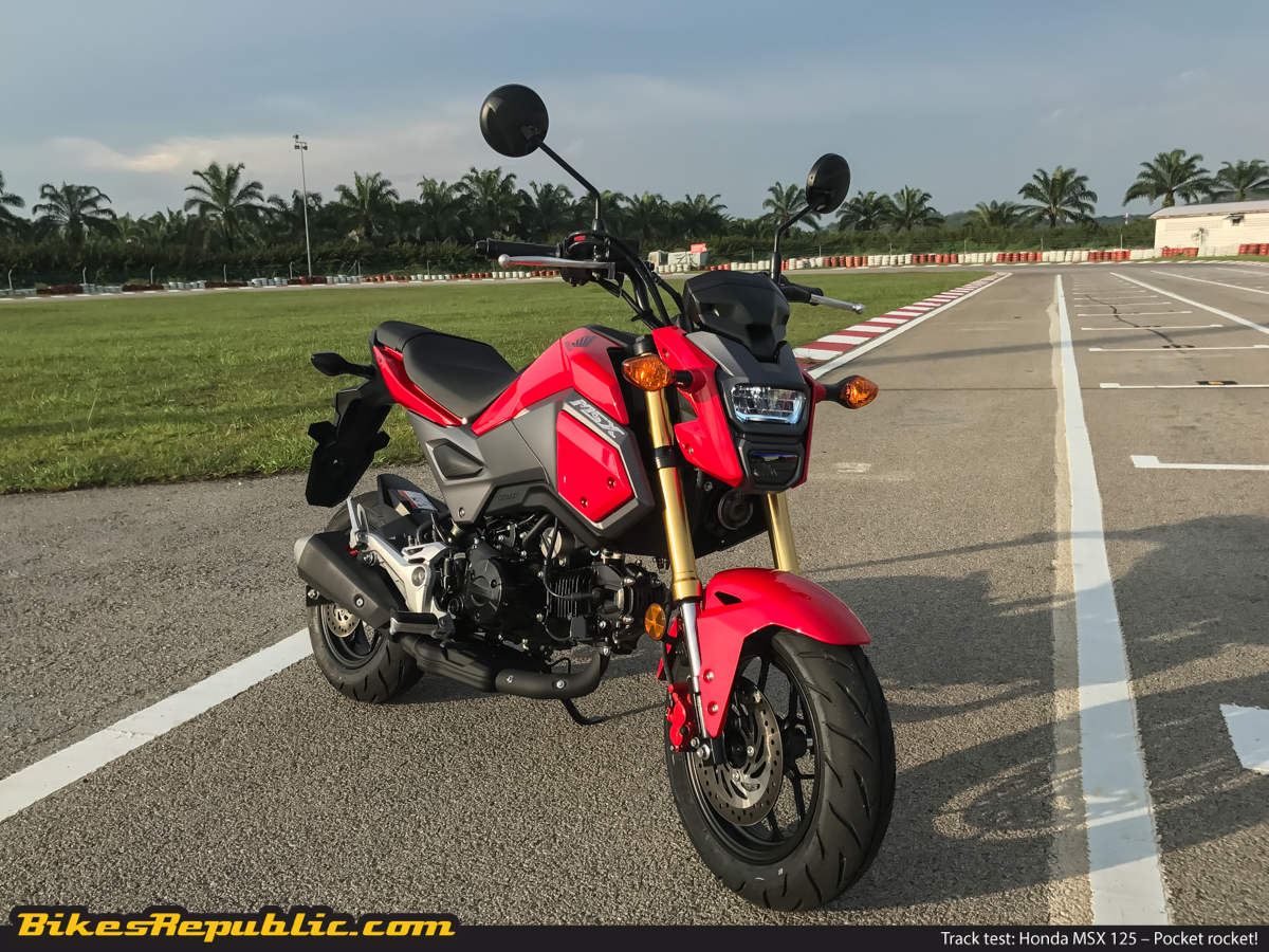 Track Test Honda Msx 125 Pocket Rocket With Video Bikesrepublic Mini Bike Peel Away The Stylish Skin And Fancy Full Led Headlight Is Just Like Any Other It Has A Traditional Backbone Chassis Architecture