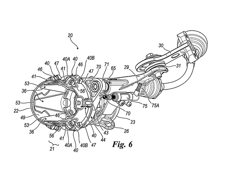 ducati engine diagrams ducati jet exhaust patent surfaces bikesrepublic  ducati jet exhaust patent surfaces