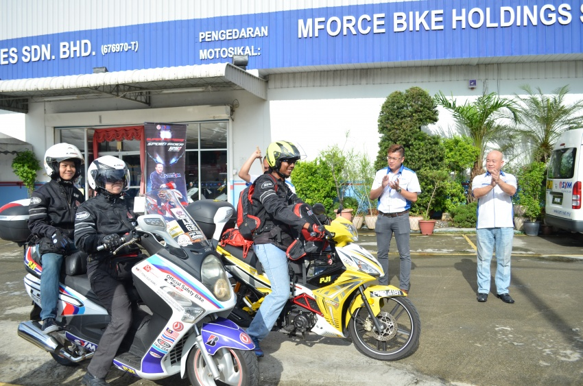 Family travelled 6,011km through Six Borders on SYM Bike and