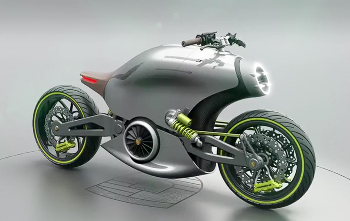 An Electric Motorcycle Concept From Porsche