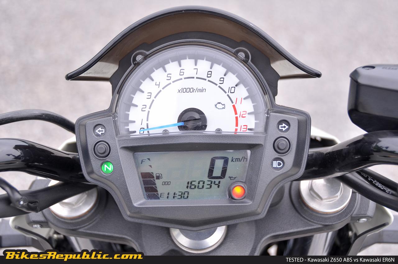 Tested 2017 Kawasaki Z650 Abs Vs Kawasaki Er6n Bikesrepublic