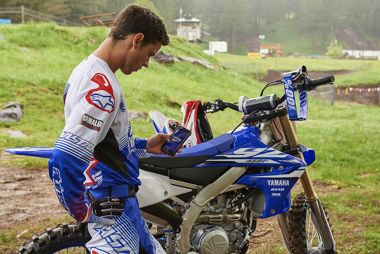 2018 Yamaha YZ450F – A dirt bike you can tune using your