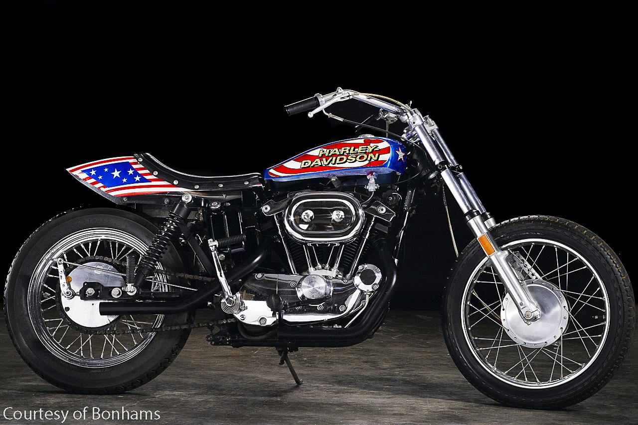 Evel Knievel S Harley Sportster Is Going On The Auction Block: Evil Knievel Stunt Bike For Sale