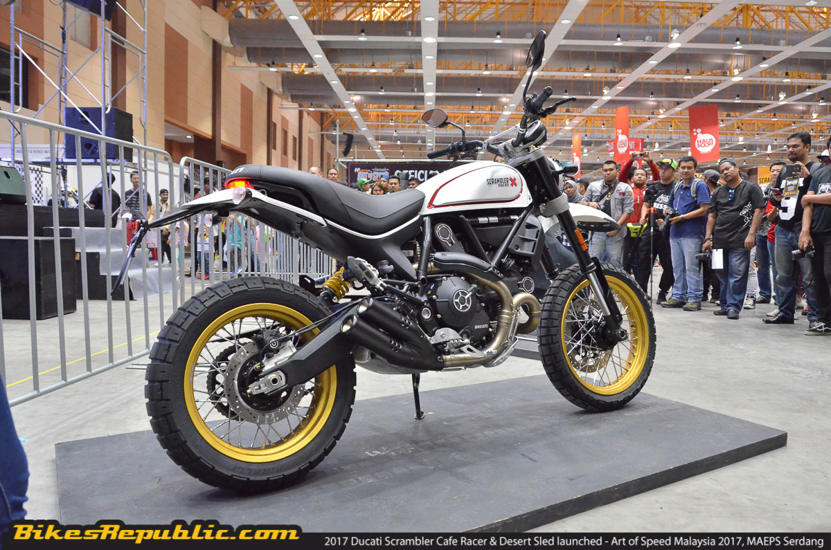 2017 Ducati Scrambler Cafe Racer Desert Sled Launched Rm68899
