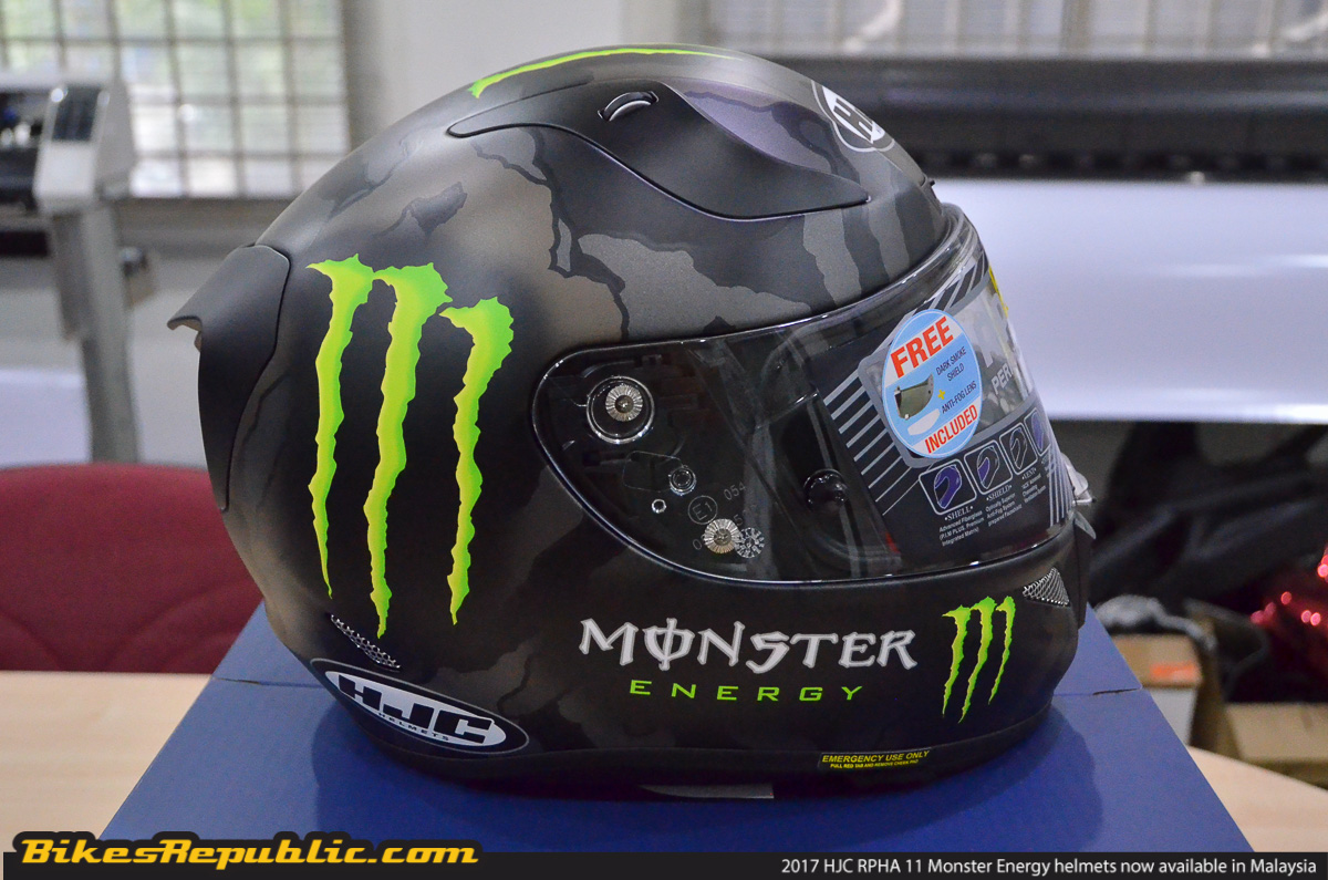 Hjc Rpha 11 >> 2017 HJC RPHA 11 Monster Energy helmets now in Malaysia ...