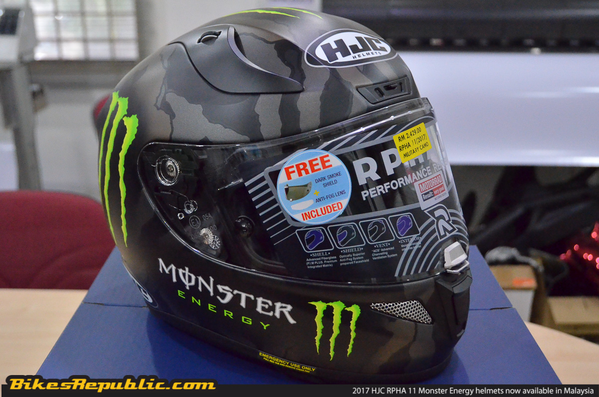 2017 hjc rpha 11 monster energy helmets now in malaysia. Black Bedroom Furniture Sets. Home Design Ideas