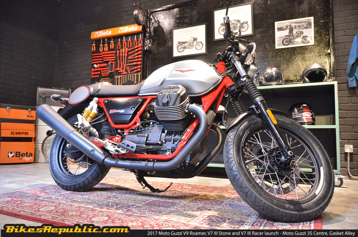 2017 Moto Guzzi V7 Iii Stone V7 Iii Racer And V9 Roamer Launched