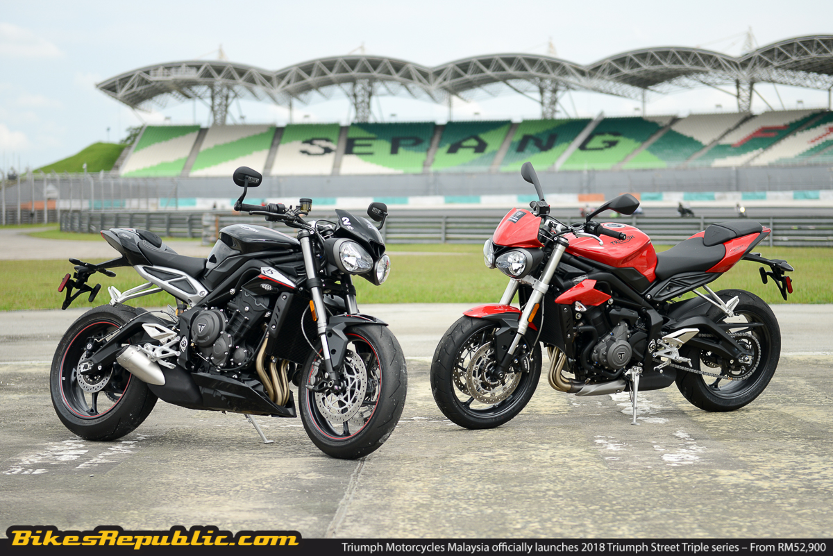 triumph motorcycles malaysia officially launches 2018 triumph street triple series from rm52. Black Bedroom Furniture Sets. Home Design Ideas