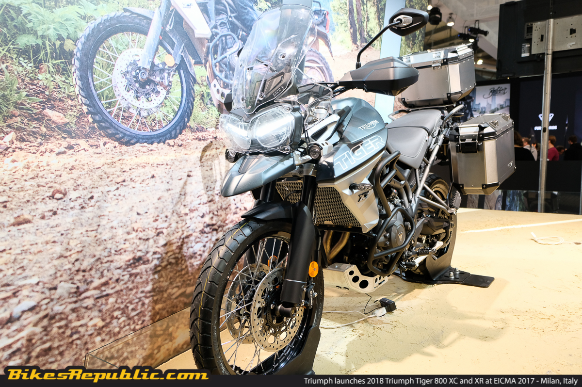 Triumph Launches 2018 Triumph Tiger 800 Xc And Xr At Eicma 2017