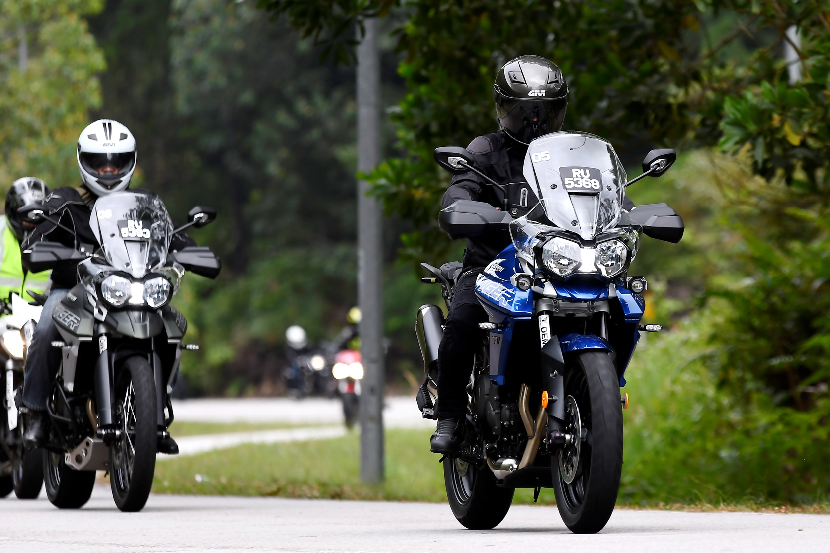 Two Of The New Triumph Tiger 800 Adventure Bikes Being Tested By The
