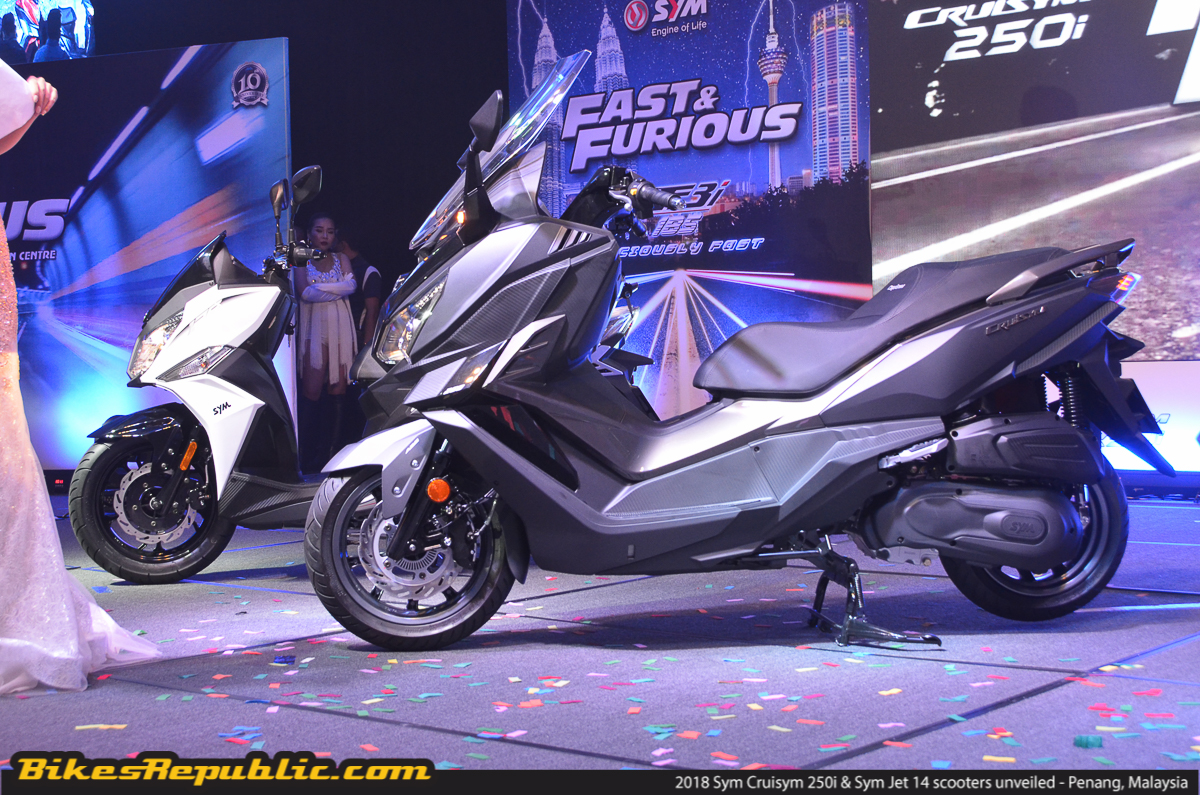 2018 Sym Cruisym 250i & Sym Jet 14 scooters unveiled – From