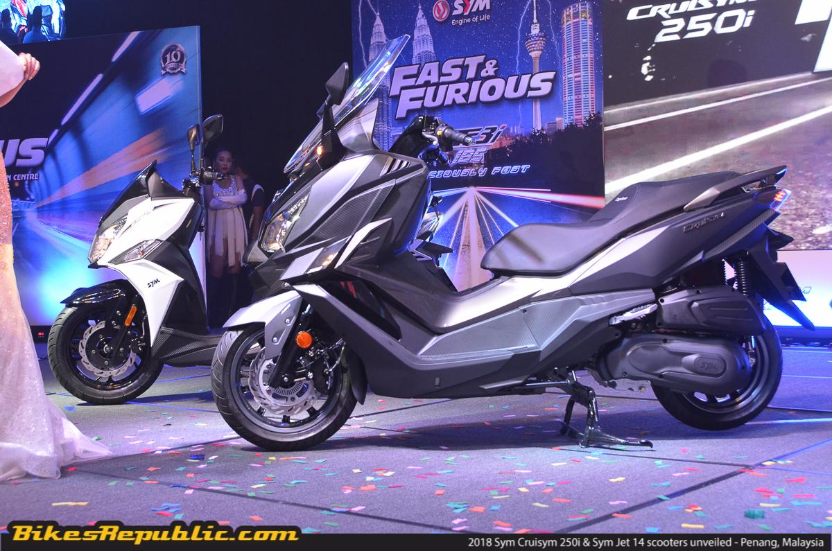 FIRST RIDE: 2018 Sym Cruisym 250i & Sym Jet 14 - BikesRepublic