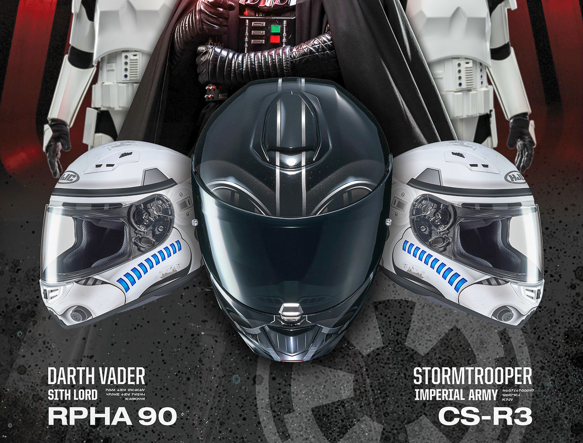 49e958f6 HJC Helmets is proud to announce their latest Star Wars collection; the HJC  RPHA 90 Darth Vader ...