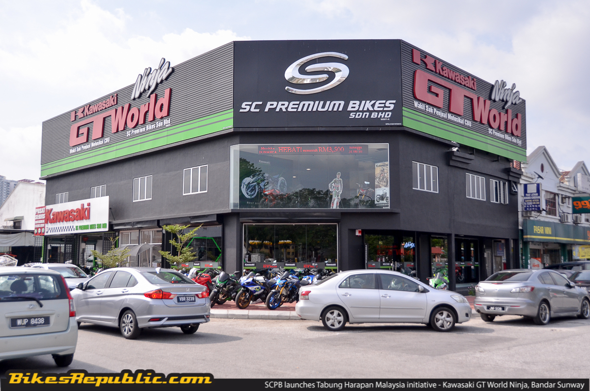 e5e2c535472 In conjunction with the grand opening of SC Premium Bikes Sdn Bhd (SCPB)  new Kawasaki GT World Ninja showroom and service centre in Bandar Sunway,  ...