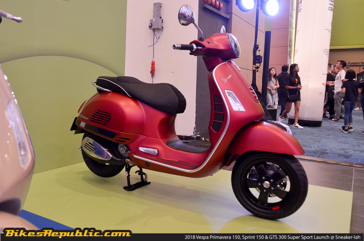 2018 vespa primavera 150 sprint 150 gts 300 super sport. Black Bedroom Furniture Sets. Home Design Ideas