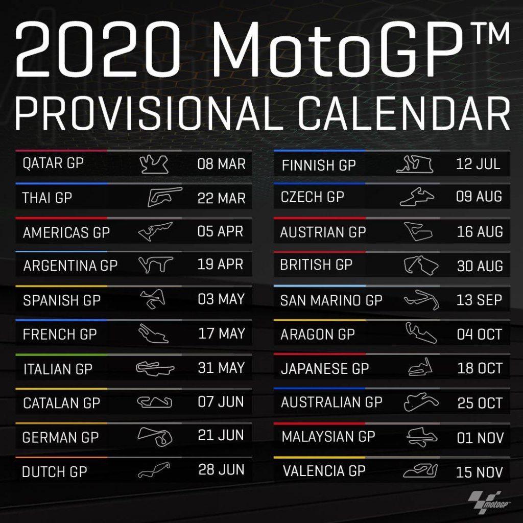 Rennkalender Motogp 2021