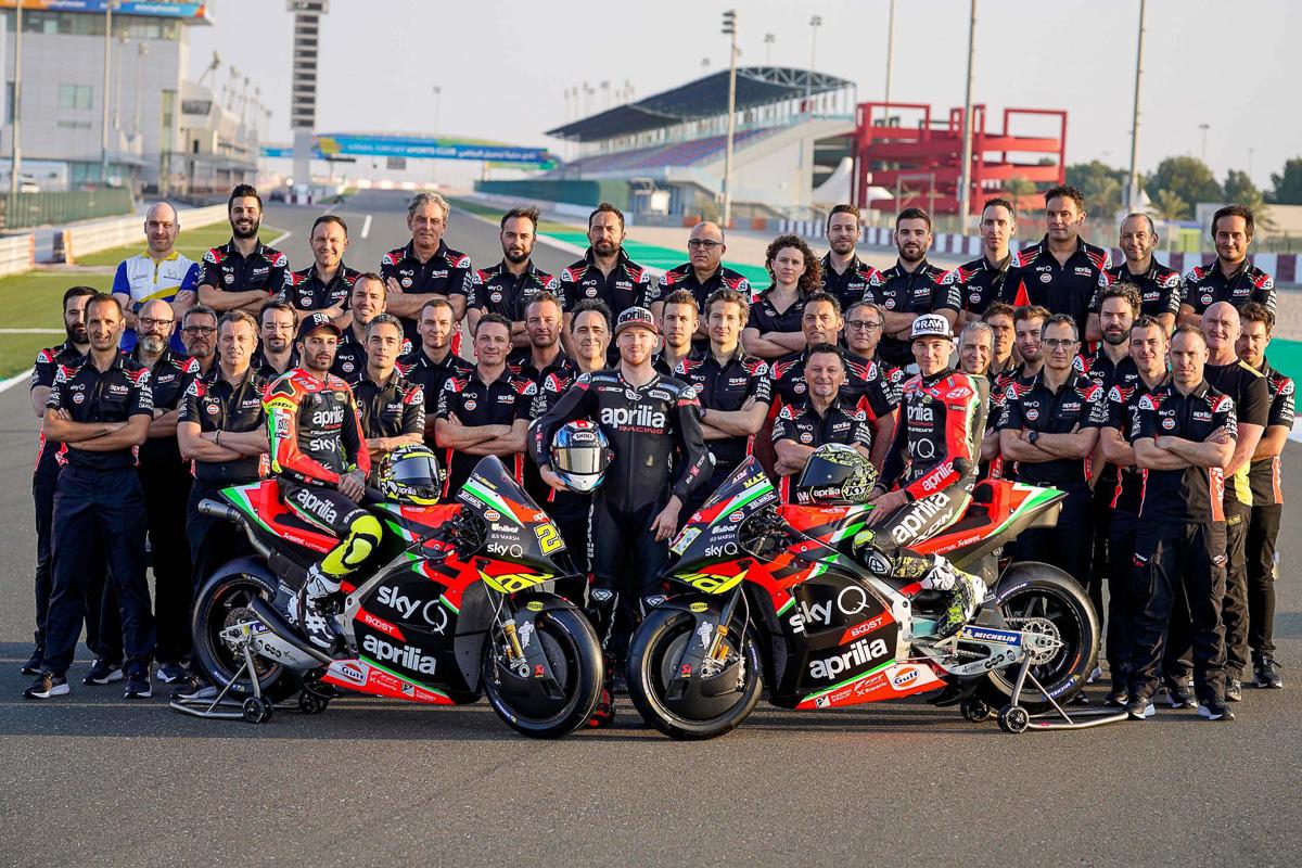 2020 Aprilia RS-GP MotoGP team launch with THREE riders ...