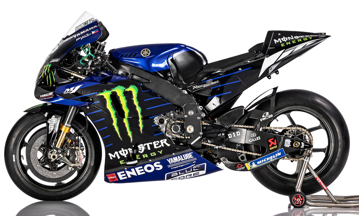 Monster Energy Yamaha Motogp 2020 Yzr M1 Valentino Rossi Maverick Vinales 12 Bikesrepublic