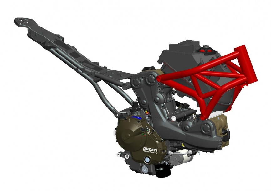53-10_MONSTER_821 CAD Engine-chassis assembly