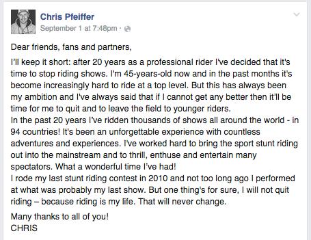 FB message screenshot