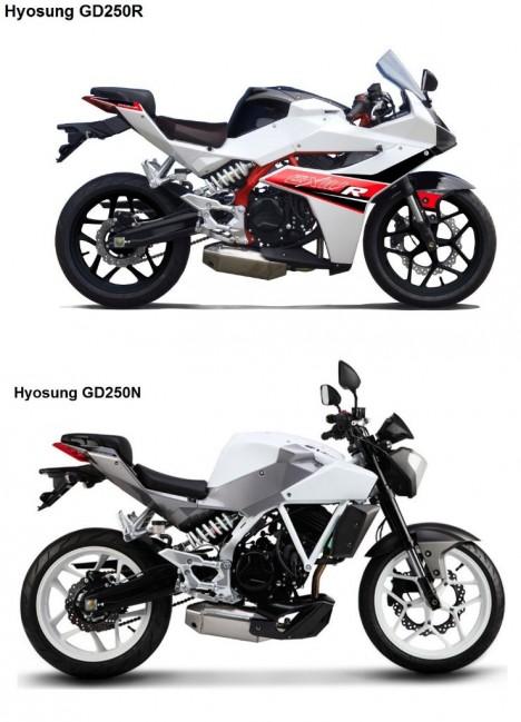 Hyosung-GD250N-Vs-GD250R-