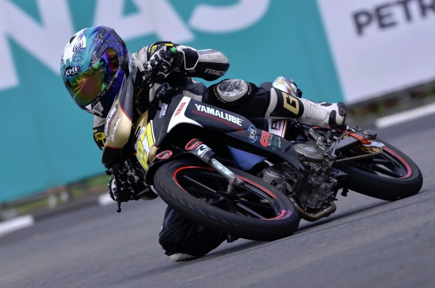 Iskandar Raduan in action during the CP130 race in Kangar