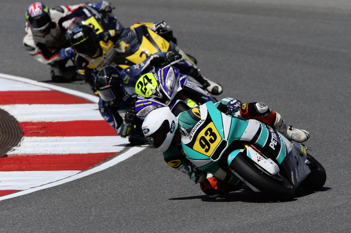 Ramdan Rosli 93 during the Moto2 European Championship race in Portugal