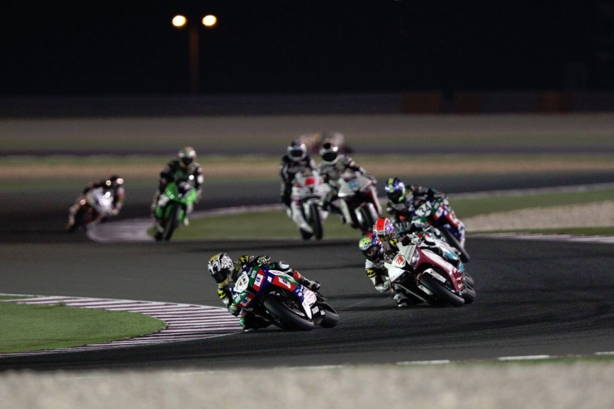 SuperSports 600cc race at the Losail Circuit in Qatar