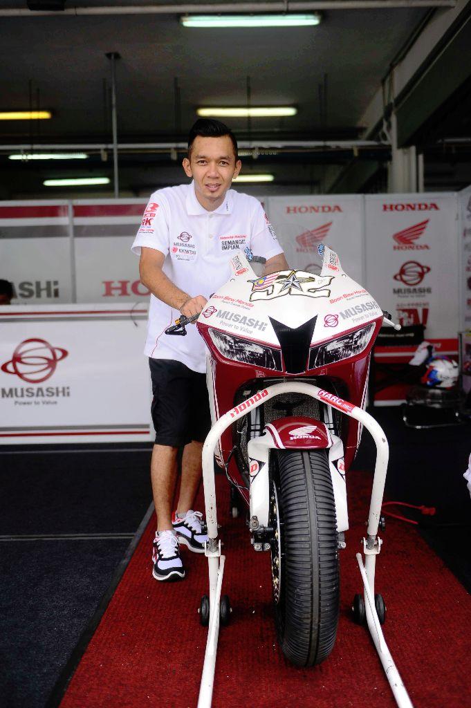 Zamri Baba and his Honda CBR-600RR